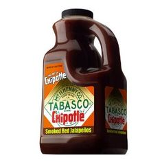 TABASCO Chipotle Pepper Sauce - 1/2 Gallon #spicy #hotsauce #tabasco Pour it on! Our NEW TABASCO® brand Chipotle Pepper Sauce is made from select smoked red jalapeño peppers and has a smooth, rich smoky flavor. And it's our first pepper sauce that you can sprinkle on like a condiment, or really pour on like a steak sauce or marinade! Use a generous amount to marinate and grill chicken, flank steak, fajitas, hamburgers, vegetables, pork loin and more - because it's not just about adding heat