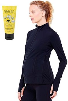 Bundle 2 Item Ingrid  Isabel Maternity Active Jacket  BellaB BodyBuzz Black L ** Click on the image for additional details. #MaternitySweater Maternity Sweater, Athletic, Sweaters, Jackets, Image, Black, Fashion, Down Jackets, Moda