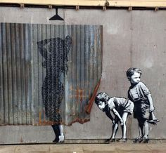 The 20 most stunning works of street art of by Banksy, Weston-super-Mare, Britain