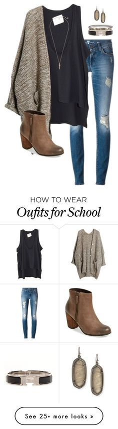 """I LUV my school's spirit sm"" by southernprepxoxo on Polyvore featuring moda, Daftbird, BP., Hermès, David Yurman ve Kendra Scott"