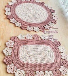 Crochet - Page 20 of 171 - Crochet and Knitting Patterns Crochet Mat, Crochet Rug Patterns, Crochet Carpet, Crochet Home, Love Crochet, Crochet Designs, Crochet Crafts, Crochet Projects, Knitting Patterns