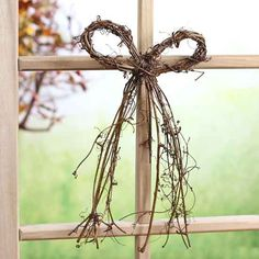 Natural Grapevine Twig Bow