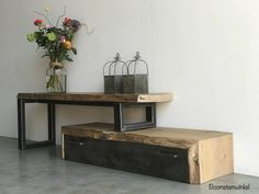 industrieel boomstam eiken tv meubel, Wat is Avant-garde meubels? Tv Furniture, Furniture Design, Rack Tv, Home And Living, Living Room, Muebles Living, Small Apartment Living, Funky Home Decor, Wood Pallet Furniture