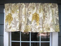 Valance Ready to Ship Gathered Arched Rod Pocket Window