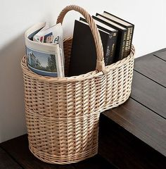 """Stair basket: the answer for easily transporting things from floor floor. Having a """"why didn't I think of this sooner?!"""" moment."""