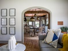This arch is one of the reasons I fell in love with the house to begin with. I like the details that combine both new and old to show off the home's original character. To preserve this arch, there was never a chance of us completely opening up this space to the dining room.