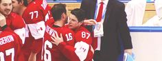 Sidney Crosby and Jonathan Toews after winning Olympic gold
