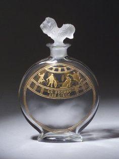 EXTREMELYRARE Baccarat Yardley Les Secret des Dieux French Perfume Bottle.  c.1913
