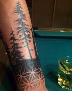 Male Forearm Symmetrical Tattoo Designs Of Sacred Geometry