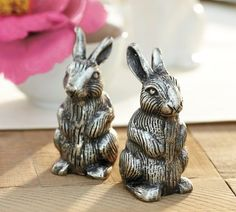 I have a bit of a bunny obsession.  Cute Salt & Pepper shakers from PotteryBarn $29.50