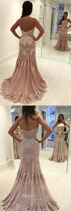 Pink Formal Dresses Mermaid, Long Prom Dresses For Teens, Lace Evening Dresses Open Back, Gorgeous Military Ball Dresses Chiffon - Mermaid Prom Dresses Lace, Grad Dresses Long, Military Ball Dresses, Elegant Prom Dresses, Beaded Prom Dress, Prom Dresses With Sleeves, Prom Party Dresses, Pageant Dresses, Dresses For Teens