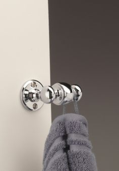Classic double robe hook. Ideal for hanging towels or robes. Heavy chunky item comes in brass, nickel or chrome. Part of our range of English made bathroom accessories.  http://www.priorsrec.co.uk/classic-double-bathroom-hook/p-41-45-168