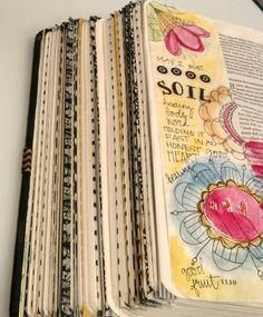 Bible Art Journaling/Good Soil/Sue Carroll