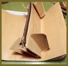革製品の製作工程・作り方 手作り革製品のPowパウレザー:ハンドメイドの革財布やバッグ、革小物