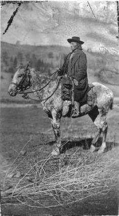 Nez Perce man near Kamiah, Idaho - no date