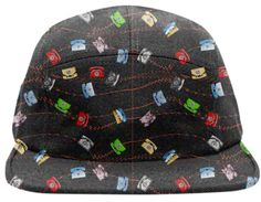 img  Phone Memories Baseball Hat By mae-glenn $48.00  This design is an original graphic pattern of old fashioned telephones, the rotary dial styles used before push buttons and cell phones existed. Originally they were always black. But then things became exciting when phones came in colors like light blue, gold, green, white, and red for emergencies! The old phones plugged in with spiral cords that stretched, represented by the red zigzag lines in the pattern being stretched to the max…