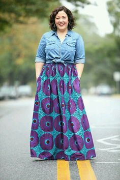 27 Plus Size Skirts Inspiring Ideas. Womens Plus size dress, clothes. Plus size outfit cute patterns inspiration. Womens plus size fashion. Maxi Skirt Outfits, Komplette Outfits, Casual Work Outfits, Summer Outfits, Maxi Skirts, Tunic Dresses, Ankara Skirt, Fall Dresses, Dress Tops