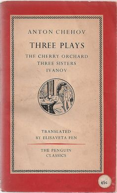 Three Plays - Chehov - Vintage Penguin Classics Red Theater Book 1950's - $10.00
