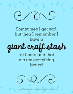 craft stash... for sure.