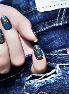 Pretty Painted Fingers| Toes Nail Lacquer| Serafini Amelia| Ciate's latest manicures: denim manicure