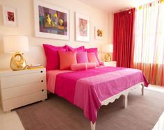 Teens Bedroom, Fabulous Glamorous Bedroom Designs for Young Women: Splendid Young Woman's Bedroom Designs With Pink Bedding White Bed Frame