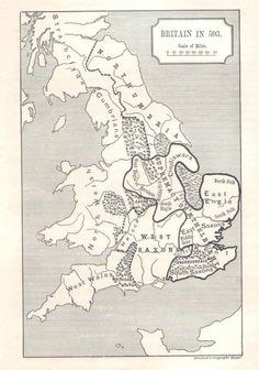 Giclee Print: Map of Britain in Printed by Stanford's Geographical Establishment : Uk History, Mystery Of History, British History, World History, Map Of Britain, Roman Britain, Anglo Saxon History, Ancient History, Medieval World