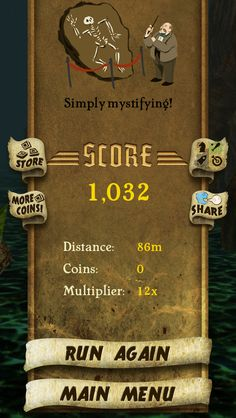 I got 1,032 points while escaping from demon monkeys. Beat that! http://bit.ly/TempleRunGame #TempleRun