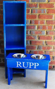 Great name for the dog of a UK fan! Dog Bowl Raised Personalized Medium. $50.00, via Etsy.