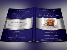 Dignity Funeral Program Publisher Template by Godserv on Etsy