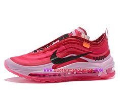 bb367bf014102 Classique Off White X Nike Air Max 97 Gs Chaussures Sportswear Pour  Femme Enfant Noir blanc rose AJ4585-100-Voir Nike hommes, dames et bébés  chaussures de ...