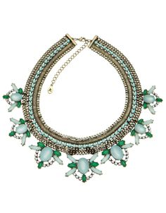 make a statement with this green necklace