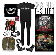 """Good Charlotte"" by choice-to-be ❤ liked on Polyvore featuring Paige Denim, Manic Panic NYC, ASOS, Topshop, bandtshirt and bandtee"