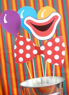 Circus Printable Photo Booth Props to purchase - cute ideas.