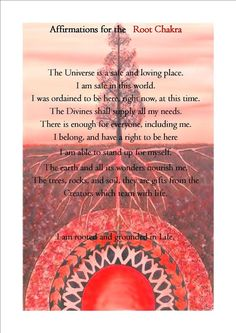 The Root Chakra Affirmation