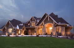 OMG - beautiful stone work  Arts and Crafts House Plan Front of Home - 013S-0002 | House Plans and More