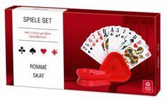ASS Senioren - Spielset Rommé/Skat mit Kartenhalter