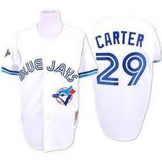 Vintage 1993 Mitchell and Ness Joe Carter Blue Jays Throwback Home White  Jersey Jersey Blanco 6134c40d1f6