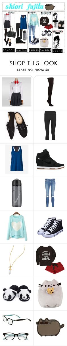 """Haikyuu!! OC #1"" by chibi-space-gal ❤ liked on Polyvore featuring John Lewis, Wet Seal, NIKE, Express, Frame, BillyTheTree, Frillies, Pusheen and Kate Spade"