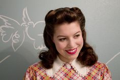 Cute 40s hairstyle how to