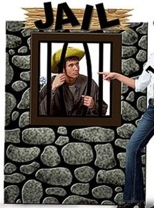 Cardboard Jail Party Decoration Western Country