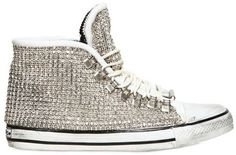 Dioniso Leather and Swarovski High Top Sneakers in White for Men - Lyst