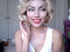 Amazing Marilyn Monroe makeup tutorial! Wow. Perfect and step by step.