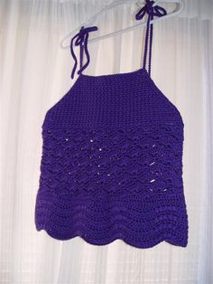 PDF Crochet Pattern  Waves and Shells Halter Top by UnravelMe, $4.99