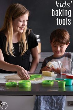 We created kitchen tools and recipes that make it easy on kids (and parents) to learn the basics of cooking and baking. Cool Kitchen Gadgets, Kitchen Tools, Cool Kitchens, Healthy Kids, Healthy Cooking, Cooking Recipes, Easy Recipes, Cooking With Toddlers, Baking With Kids