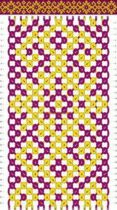 Normal Friendship Bracelet Pattern #10189 - BraceletBook.com