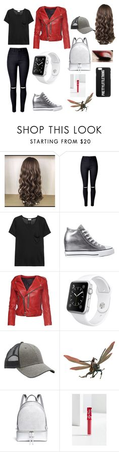 """""""Ant-Girl"""" by karabear3256 ❤ liked on Polyvore featuring Yves Saint Laurent, Converse, Marc Jacobs, Apple, Athleta, Michael Kors and Lime Crime"""