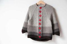 Návod na dětský pletený svetřík / Knitting pattern how to knit kids jacket Knitting Patterns, Sweaters, Baby, Jackets, Knits, Tutorials, Fashion, Down Jackets, Moda
