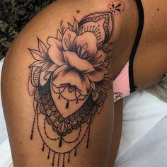 Hip tattoo 95 tattoo hip tattoo designs, tattoos ve floral h Hip Tattoo Designs, Tattoo Designs For Girls, Tattoo Sleeve Designs, Sleeve Tattoos, Wrist Tattoos, Tattos, Leg Tattoos Women, Tattoos For Women Small, Neue Tattoos