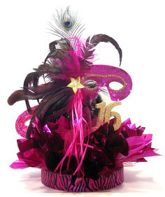 Sweet 16 Masquerade Ball Centerpiece