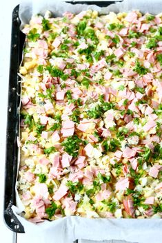 Kinkku-juustopiirakka, munaton - Suklaapossu Tex Mex, Pasta Salad, Food And Drink, Ethnic Recipes, Mascarpone, Crab Pasta Salad